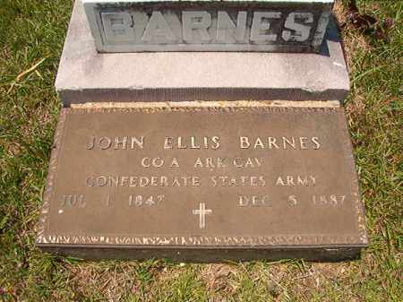 BARNES (VETERAN CSA), JOHN ELLIS - Union County, Arkansas | JOHN ELLIS BARNES (VETERAN CSA) - Arkansas Gravestone Photos