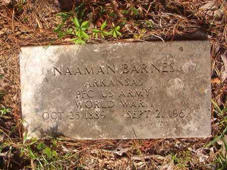 BARNES (VETERAN WWI), NAAMAN - Union County, Arkansas | NAAMAN BARNES (VETERAN WWI) - Arkansas Gravestone Photos