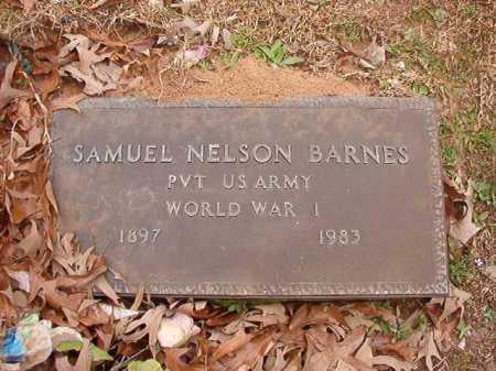 BARNES (VETERAN WWI), SAMUEL NELSON - Union County, Arkansas | SAMUEL NELSON BARNES (VETERAN WWI) - Arkansas Gravestone Photos