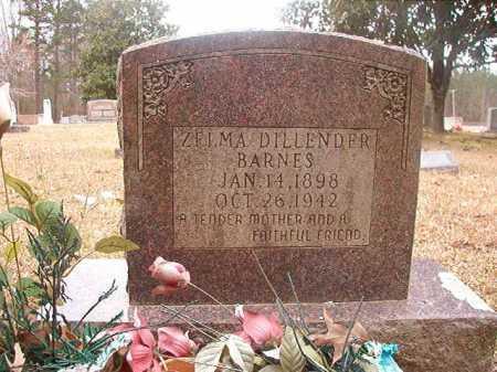 DILLENDER BARNES, ZELMA - Union County, Arkansas | ZELMA DILLENDER BARNES - Arkansas Gravestone Photos