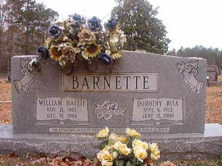 BARNETTE, WILLIAM HALLIE - Union County, Arkansas | WILLIAM HALLIE BARNETTE - Arkansas Gravestone Photos