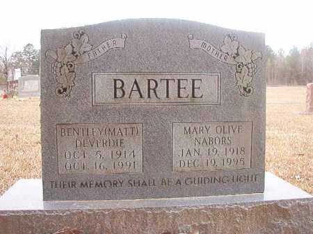 BARTEE, BENTLEY DEVERDIE (MATT) - Union County, Arkansas | BENTLEY DEVERDIE (MATT) BARTEE - Arkansas Gravestone Photos