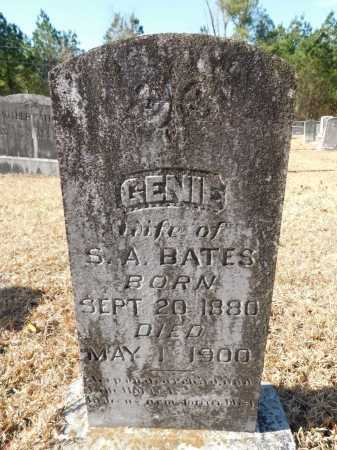 BATES, GENIE - Union County, Arkansas | GENIE BATES - Arkansas Gravestone Photos