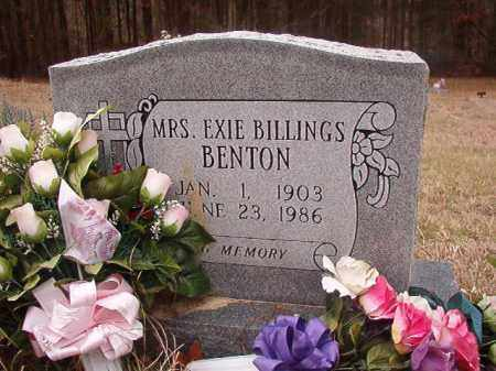 BILLINGS BENTON, EXIE - Union County, Arkansas | EXIE BILLINGS BENTON - Arkansas Gravestone Photos