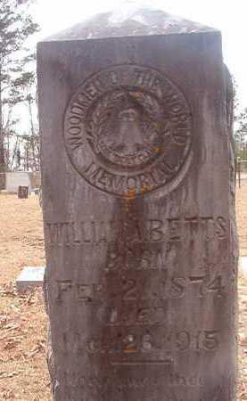 BETTS, WILLIAM A - Union County, Arkansas | WILLIAM A BETTS - Arkansas Gravestone Photos