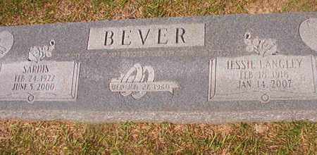 BEVER, SARDIS - Union County, Arkansas | SARDIS BEVER - Arkansas Gravestone Photos