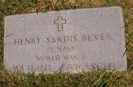 BEVER (VETERAN WWII), HENRY SARDIS - Union County, Arkansas | HENRY SARDIS BEVER (VETERAN WWII) - Arkansas Gravestone Photos