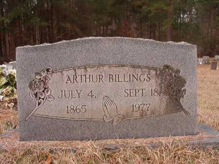 BILLINGS, ARTHUR - Union County, Arkansas | ARTHUR BILLINGS - Arkansas Gravestone Photos