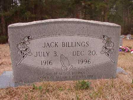 BILLINGS, JACK - Union County, Arkansas   JACK BILLINGS - Arkansas Gravestone Photos