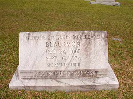 JOHNSON MCLELLAND BLACKMON, GEORGIE - Union County, Arkansas | GEORGIE JOHNSON MCLELLAND BLACKMON - Arkansas Gravestone Photos