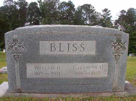 BLISS, ELIZABETH H - Union County, Arkansas | ELIZABETH H BLISS - Arkansas Gravestone Photos