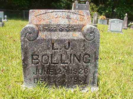 BOLLING, L J - Union County, Arkansas | L J BOLLING - Arkansas Gravestone Photos