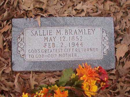 BRAMLEY, SALLIE M - Union County, Arkansas | SALLIE M BRAMLEY - Arkansas Gravestone Photos