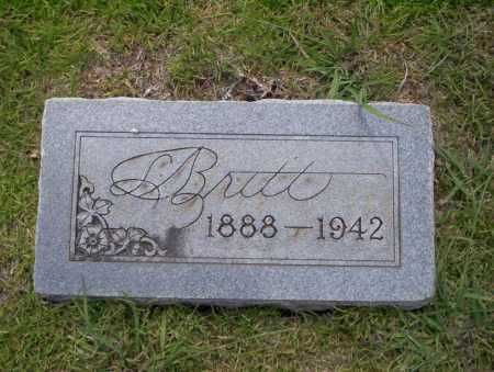 BRITT, L - Union County, Arkansas | L BRITT - Arkansas Gravestone Photos