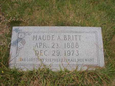 BRITT, MAUDE A - Union County, Arkansas | MAUDE A BRITT - Arkansas Gravestone Photos
