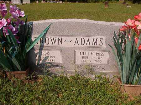 ROSS ADAMS, LILLIE M - Union County, Arkansas | LILLIE M ROSS ADAMS - Arkansas Gravestone Photos