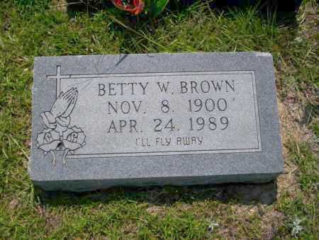 BROWN, BETTY W - Union County, Arkansas | BETTY W BROWN - Arkansas Gravestone Photos