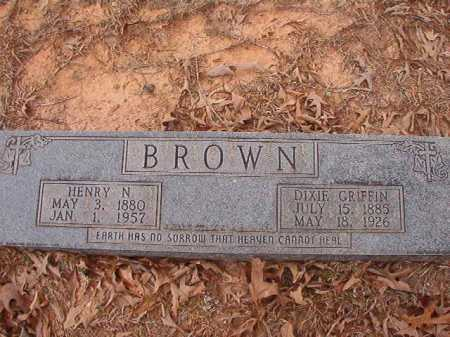 GRIFFIN BROWN, DIXIE - Union County, Arkansas | DIXIE GRIFFIN BROWN - Arkansas Gravestone Photos