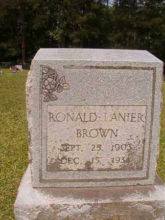 BROWN, RONALD LANIER - Union County, Arkansas | RONALD LANIER BROWN - Arkansas Gravestone Photos
