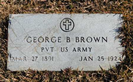 BROWN (VETERAN), GEORGE B - Union County, Arkansas | GEORGE B BROWN (VETERAN) - Arkansas Gravestone Photos