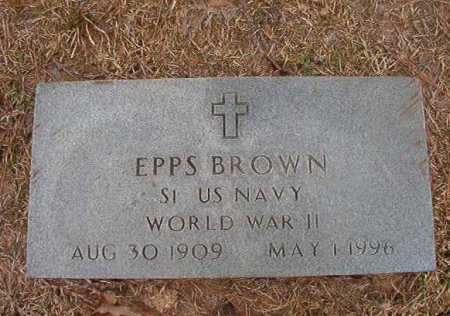 BROWN (VETERAN WWII), EPPS - Union County, Arkansas | EPPS BROWN (VETERAN WWII) - Arkansas Gravestone Photos