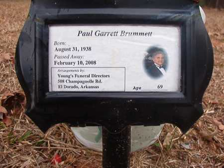 BRUMMETT, PAUL GARRETT - Union County, Arkansas | PAUL GARRETT BRUMMETT - Arkansas Gravestone Photos