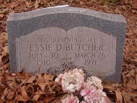 BUTCHER, ESSIE D - Union County, Arkansas | ESSIE D BUTCHER - Arkansas Gravestone Photos