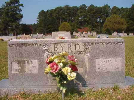BYRD, ANITA W - Union County, Arkansas | ANITA W BYRD - Arkansas Gravestone Photos