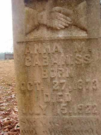 CABANISS, ANNA M - Union County, Arkansas | ANNA M CABANISS - Arkansas Gravestone Photos