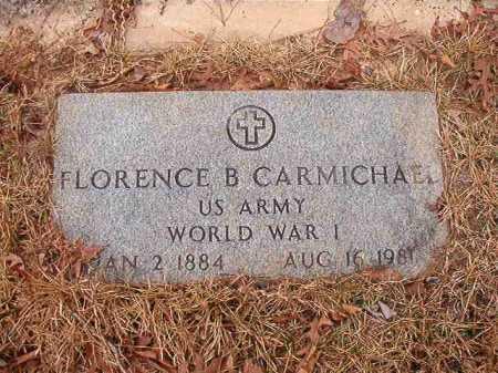 CARMICHAEL (VETERAN WWI), FLORENCE B - Union County, Arkansas | FLORENCE B CARMICHAEL (VETERAN WWI) - Arkansas Gravestone Photos