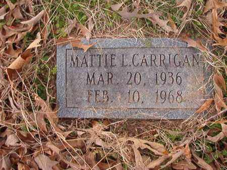 CARRIGAN, MATTIE L - Union County, Arkansas | MATTIE L CARRIGAN - Arkansas Gravestone Photos