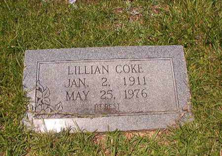 COKE, LILLIAN - Union County, Arkansas | LILLIAN COKE - Arkansas Gravestone Photos