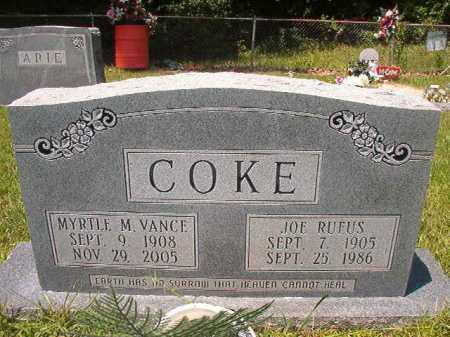 COKE, MYRTLE M - Union County, Arkansas | MYRTLE M COKE - Arkansas Gravestone Photos