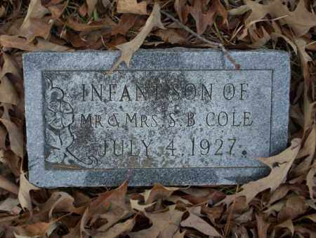 COLE, INFANT SON - Union County, Arkansas | INFANT SON COLE - Arkansas Gravestone Photos