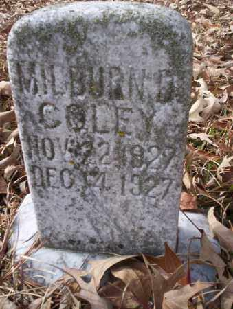 COLEY, MILBURN D - Union County, Arkansas   MILBURN D COLEY - Arkansas Gravestone Photos