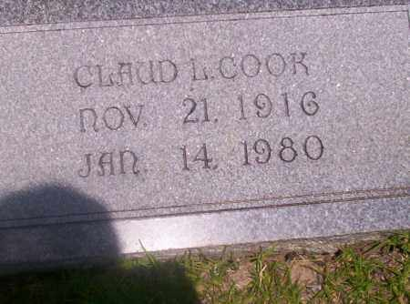 COOK, CLAUD L - Union County, Arkansas | CLAUD L COOK - Arkansas Gravestone Photos