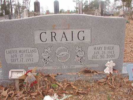 CRAIG, LAURIE MORELAND - Union County, Arkansas | LAURIE MORELAND CRAIG - Arkansas Gravestone Photos