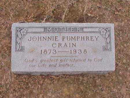 PUMPHREY CRAIN, JOHNNIE - Union County, Arkansas | JOHNNIE PUMPHREY CRAIN - Arkansas Gravestone Photos