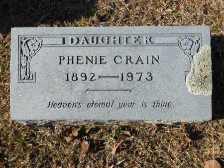 CRAIN, PHENIE - Union County, Arkansas | PHENIE CRAIN - Arkansas Gravestone Photos