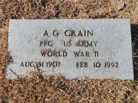 CRAIN (VETERAN WWII), A G - Union County, Arkansas | A G CRAIN (VETERAN WWII) - Arkansas Gravestone Photos