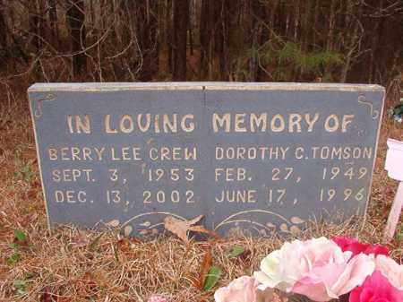 CREW, BERRY LEE - Union County, Arkansas | BERRY LEE CREW - Arkansas Gravestone Photos