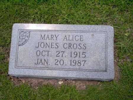 JONES CROSS, MARY ALICE - Union County, Arkansas | MARY ALICE JONES CROSS - Arkansas Gravestone Photos