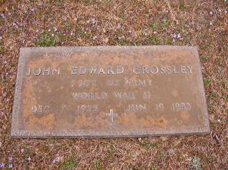 CROSSLEY (VETERAN WWII), JOHN EDWARD - Union County, Arkansas | JOHN EDWARD CROSSLEY (VETERAN WWII) - Arkansas Gravestone Photos