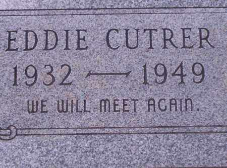 CUTRER, EDDIE - Union County, Arkansas | EDDIE CUTRER - Arkansas Gravestone Photos
