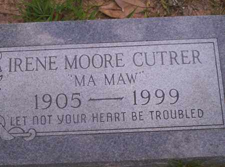 MOORE CUTRER, IRENE - Union County, Arkansas | IRENE MOORE CUTRER - Arkansas Gravestone Photos