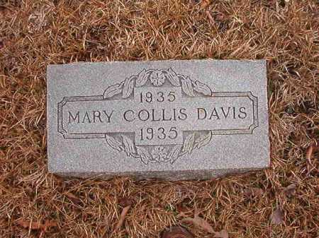 DAVIS, MARY COLLIS - Union County, Arkansas | MARY COLLIS DAVIS - Arkansas Gravestone Photos