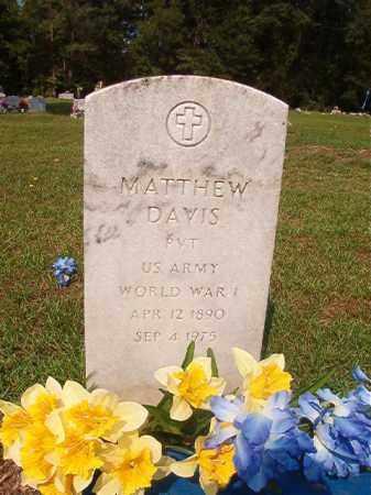 DAVIS (VETERAN WWI), MATTHEW - Union County, Arkansas | MATTHEW DAVIS (VETERAN WWI) - Arkansas Gravestone Photos