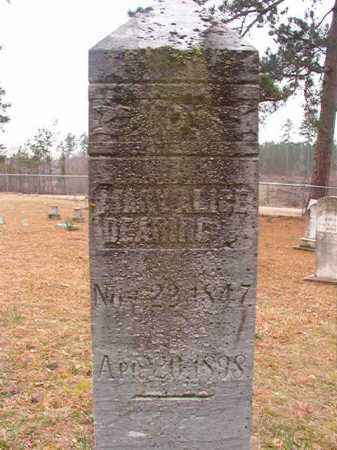 DEARING, MARY ALICE - Union County, Arkansas | MARY ALICE DEARING - Arkansas Gravestone Photos