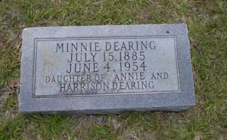 DEARING, MINNIE - Union County, Arkansas | MINNIE DEARING - Arkansas Gravestone Photos