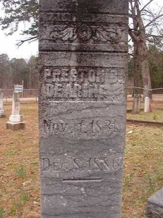 DEARING, PRESTON B - Union County, Arkansas | PRESTON B DEARING - Arkansas Gravestone Photos
